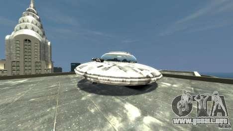 UFO ufo textured para GTA 4 Vista posterior izquierda