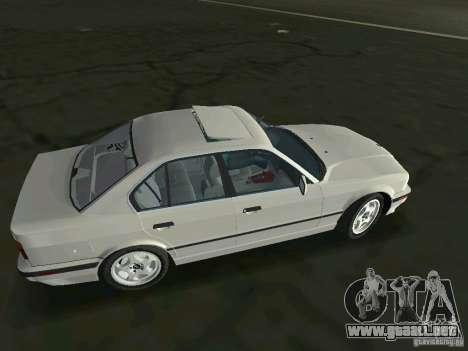 BMW 540i (E34) 1992 para GTA Vice City left