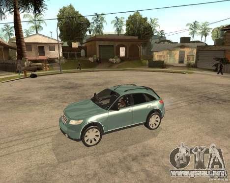 INFINITY FX45 para la visión correcta GTA San Andreas
