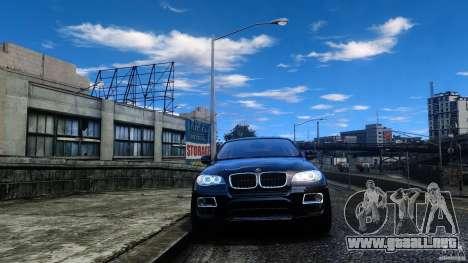 BMW X6 2013 para GTA 4 vista hacia atrás