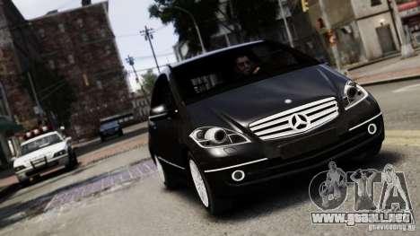 Mercedes Benz A200 Turbo 2009 para GTA 4 vista hacia atrás