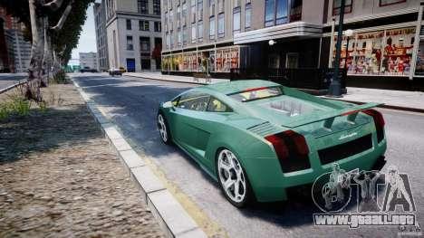 Lamborghini Gallardo para GTA 4 Vista posterior izquierda