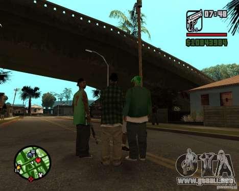 Ayuda bratkov para GTA San Andreas sucesivamente de pantalla