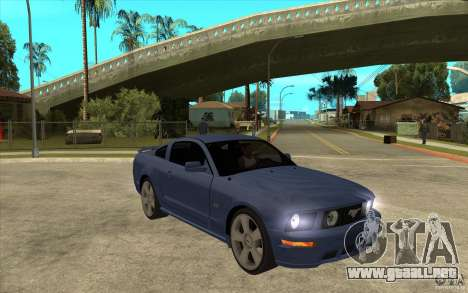 Ford Mustang 2005 para GTA San Andreas vista hacia atrás