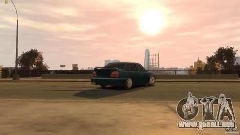 Daewoo Nexia Tuning para GTA 4 vista hacia atrás