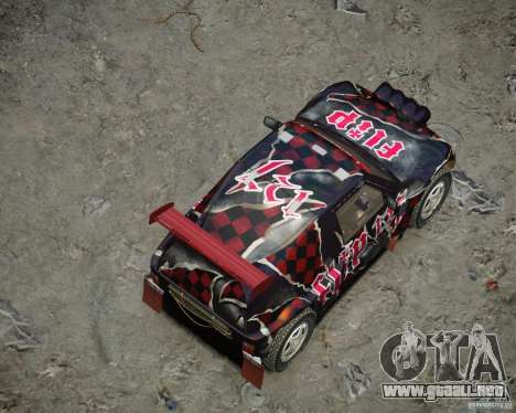 Mitsubishi Pajero Proto Dakar vinilo 3 para GTA 4 vista desde abajo