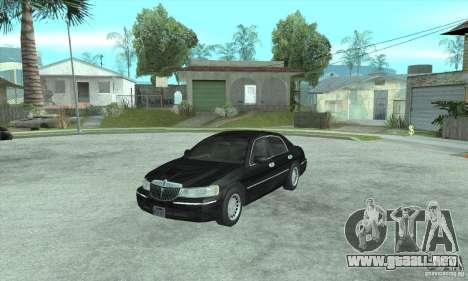 Lincoln Town Car 2002 para GTA San Andreas