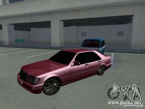 Mercedes-Benz S600 W140 v 2.0 para GTA San Andreas vista posterior izquierda
