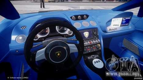 Lamborghini Gallardo LP560-4 Polizia para GTA 4 vista hacia atrás