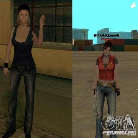 Pak personajes de Resident Evil para GTA San Andreas quinta pantalla