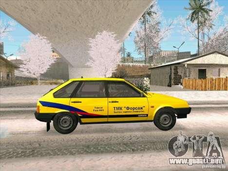 VAZ 21093i TMK Afterburner para GTA San Andreas vista posterior izquierda