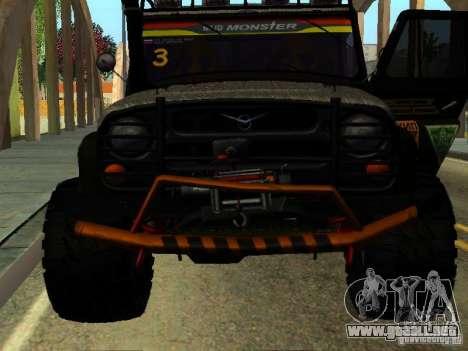 JUICIO UAZ 469 para la visión correcta GTA San Andreas