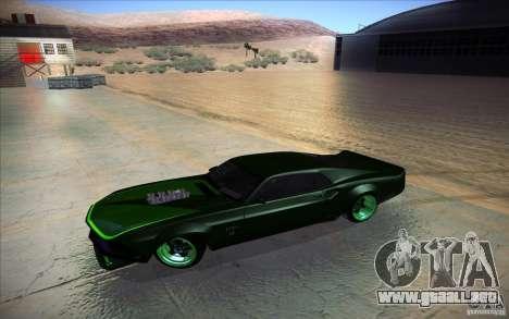 Ford Mustang RTR Drift para visión interna GTA San Andreas