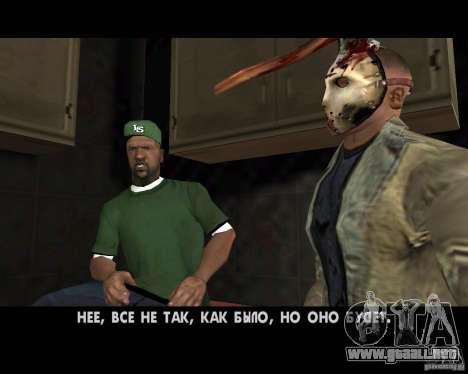 Jason Voorhees para GTA San Andreas octavo de pantalla