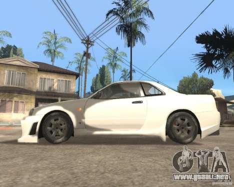 Nissan Skyline R-34 TUNED para GTA San Andreas left