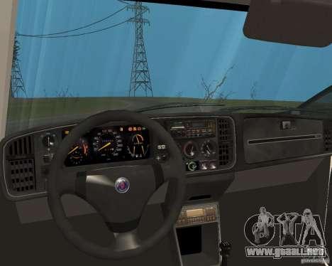 Saab 900 Turbo 1989 v.1.2 para vista inferior GTA San Andreas