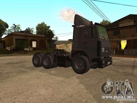 Camión MAZ 5336 para GTA San Andreas left