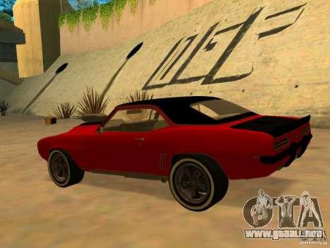 Chevrolet Camaro SS Custom para GTA San Andreas left