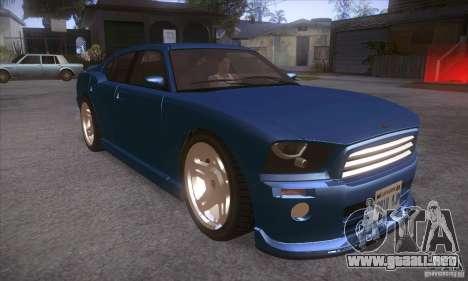 GTA IV Buffalo para GTA San Andreas vista hacia atrás