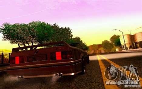 BMW E30 M3 Cabrio para GTA San Andreas vista hacia atrás