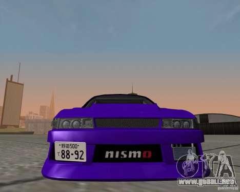 Nissan Silvia S13 Nismo tuned para GTA San Andreas vista posterior izquierda