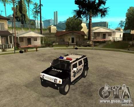 AMG H2 HUMMER SUV SAPD Police para GTA San Andreas left