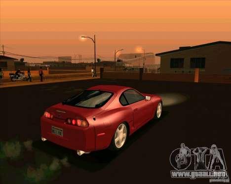 Toyota Supra NFS Most Wanted para GTA San Andreas vista posterior izquierda