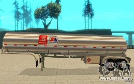 Semi Petrotr para GTA San Andreas vista posterior izquierda