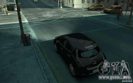 Nissan Leaf 2011 para GTA 4 Vista posterior izquierda