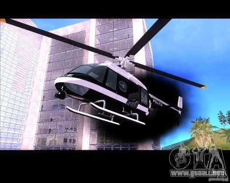 GTA IV Police Helicopter para GTA San Andreas left
