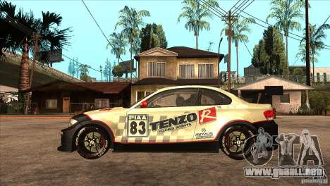 BMW 135i Coupe GP Edition Skin 1 para GTA San Andreas left