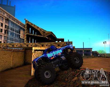 Monster Truck Blue Thunder para visión interna GTA San Andreas