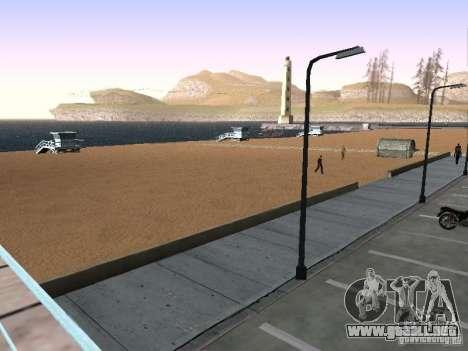 Playa nueva textura v1.0 para GTA San Andreas sucesivamente de pantalla