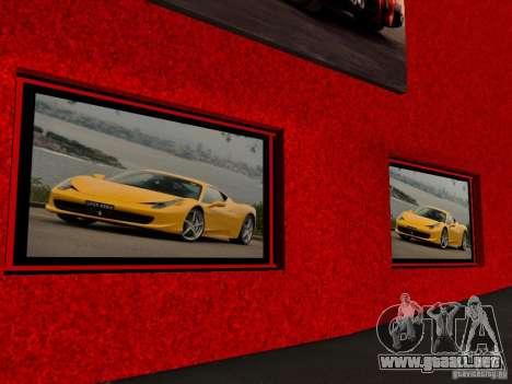 Nuevo Showroom de Ferrari en San Fierro para GTA San Andreas sucesivamente de pantalla