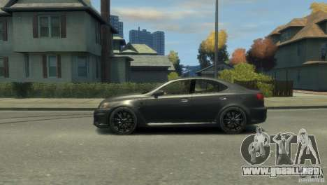 Lexus IS F para GTA 4 vista lateral