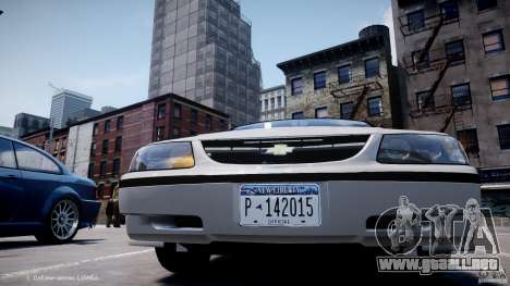 Chevrolet Impala Unmarked Police 2003 v1.0 [ELS] para GTA 4 vista superior