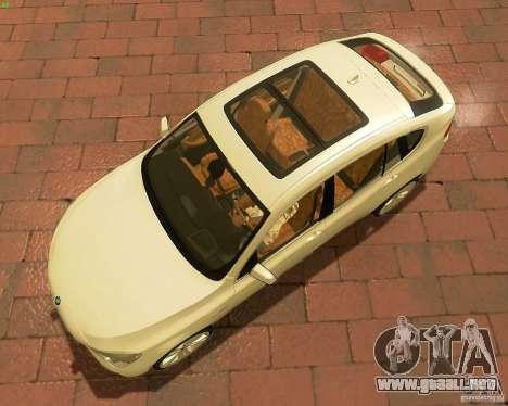 BMW 550i GranTurismo 2009 V1.0 para visión interna GTA San Andreas