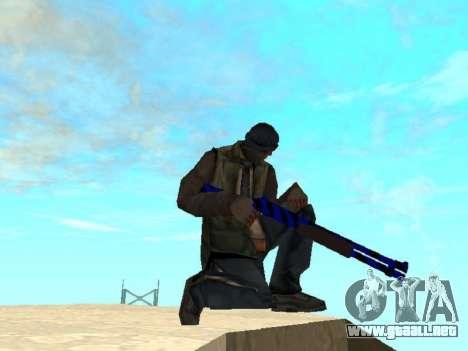 Blue and black gun pack para GTA San Andreas segunda pantalla