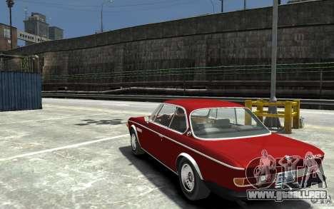 BMW 3.0 CSL E9 1971 para GTA 4 Vista posterior izquierda