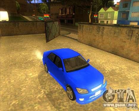 Toyota Altezza RS200 1998 para la visión correcta GTA San Andreas