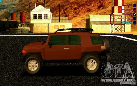 Toyota FJ Cruiser para GTA San Andreas left