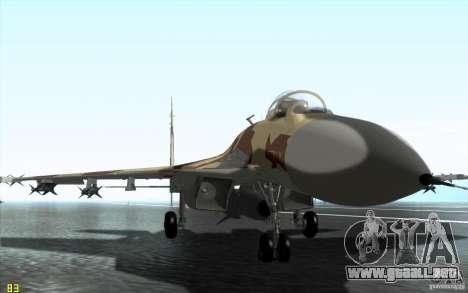 El Su-37 Terminator para GTA San Andreas left