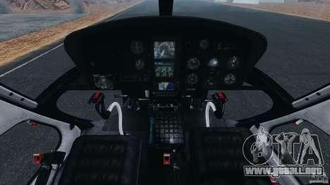 Eurocopter AS350 Ecureuil (Squirrel) para GTA 4 vista hacia atrás