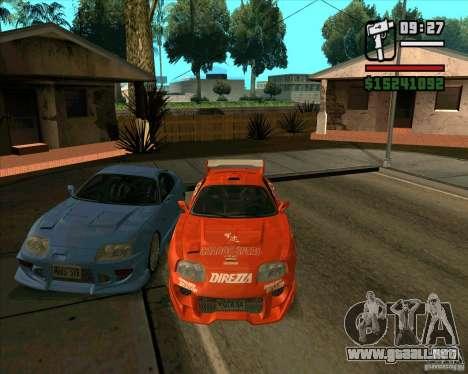 Toyota Supra MK4 tunable para la visión correcta GTA San Andreas