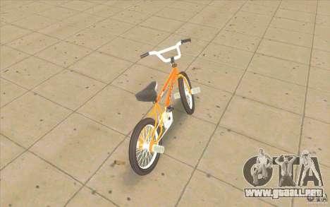 K2B Ghetto BMX para GTA San Andreas vista posterior izquierda