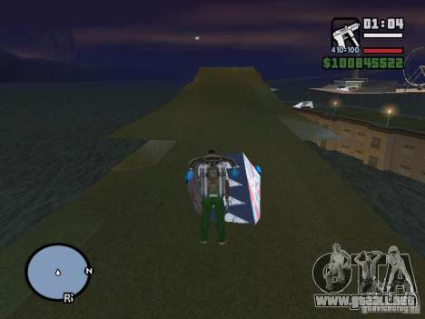 Night moto track V.2 para GTA San Andreas sucesivamente de pantalla