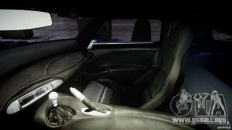 TVR Sagaris para GTA 4 vista hacia atrás