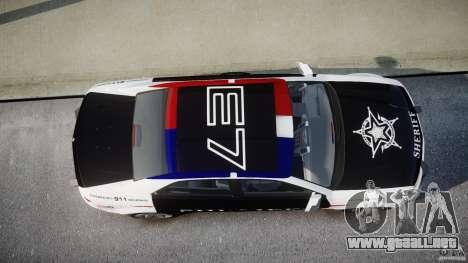 Carbon Motors E7 Concept Interceptor Sherif ELS para GTA 4 vista desde abajo
