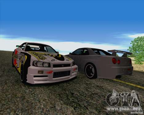 Nissan Skyline R34 Z-Tune V3 para visión interna GTA San Andreas