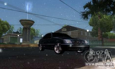 Mercedes-Benz 600SEC para visión interna GTA San Andreas